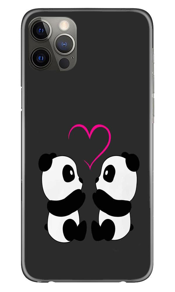 Panda Love Mobile Back Case for iPhone 12 Pro Max (Design - 398)