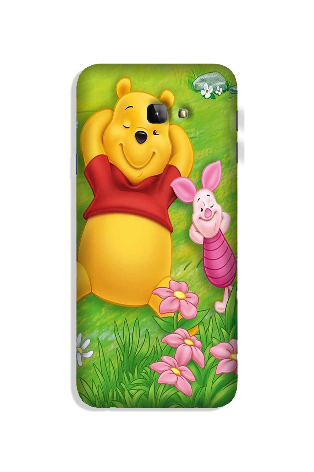 Winnie The Pooh Mobile Back Case for Galaxy J4 Plus (Design - 348)