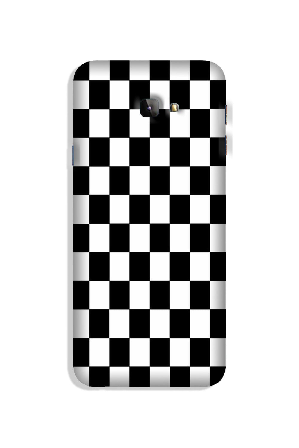 Black White Boxes Mobile Back Case for Galaxy J4 Plus (Design - 372)