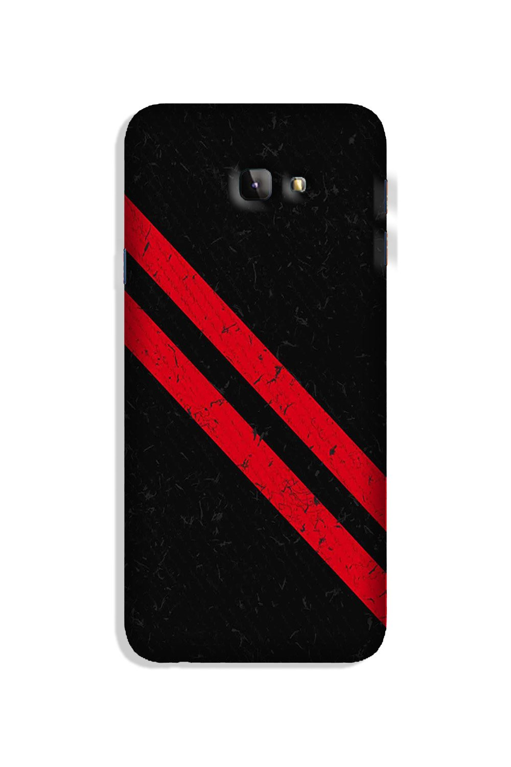 Black Red Pattern Mobile Back Case for Galaxy J4 Plus (Design - 373)