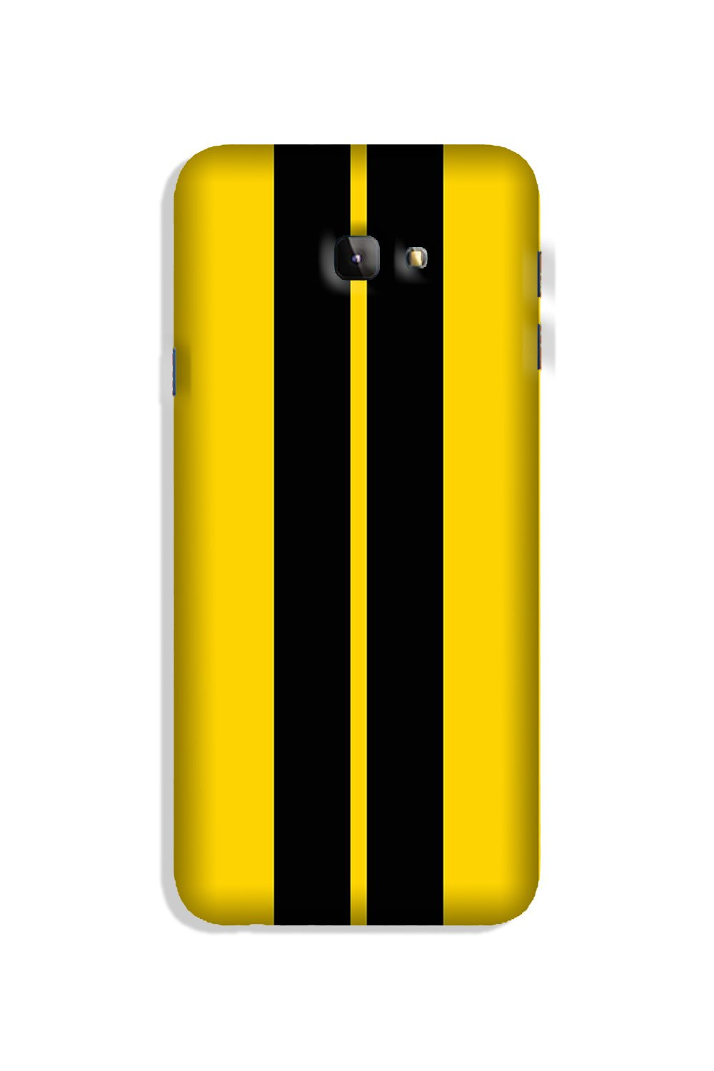 Black Yellow Pattern Mobile Back Case for Galaxy J4 Plus (Design - 377)