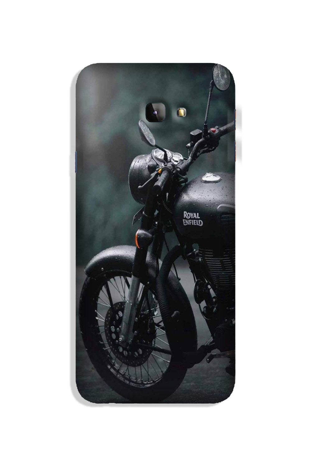 Royal Enfield Mobile Back Case for Galaxy J4 Plus (Design - 380)