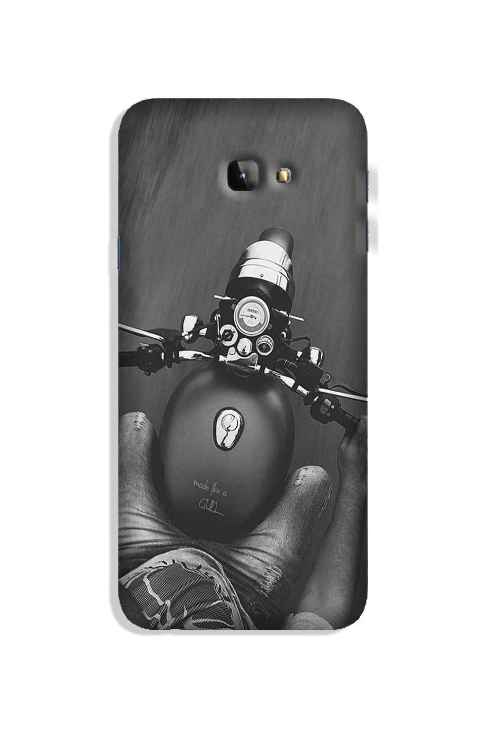 Royal Enfield Mobile Back Case for Galaxy J4 Plus (Design - 382)