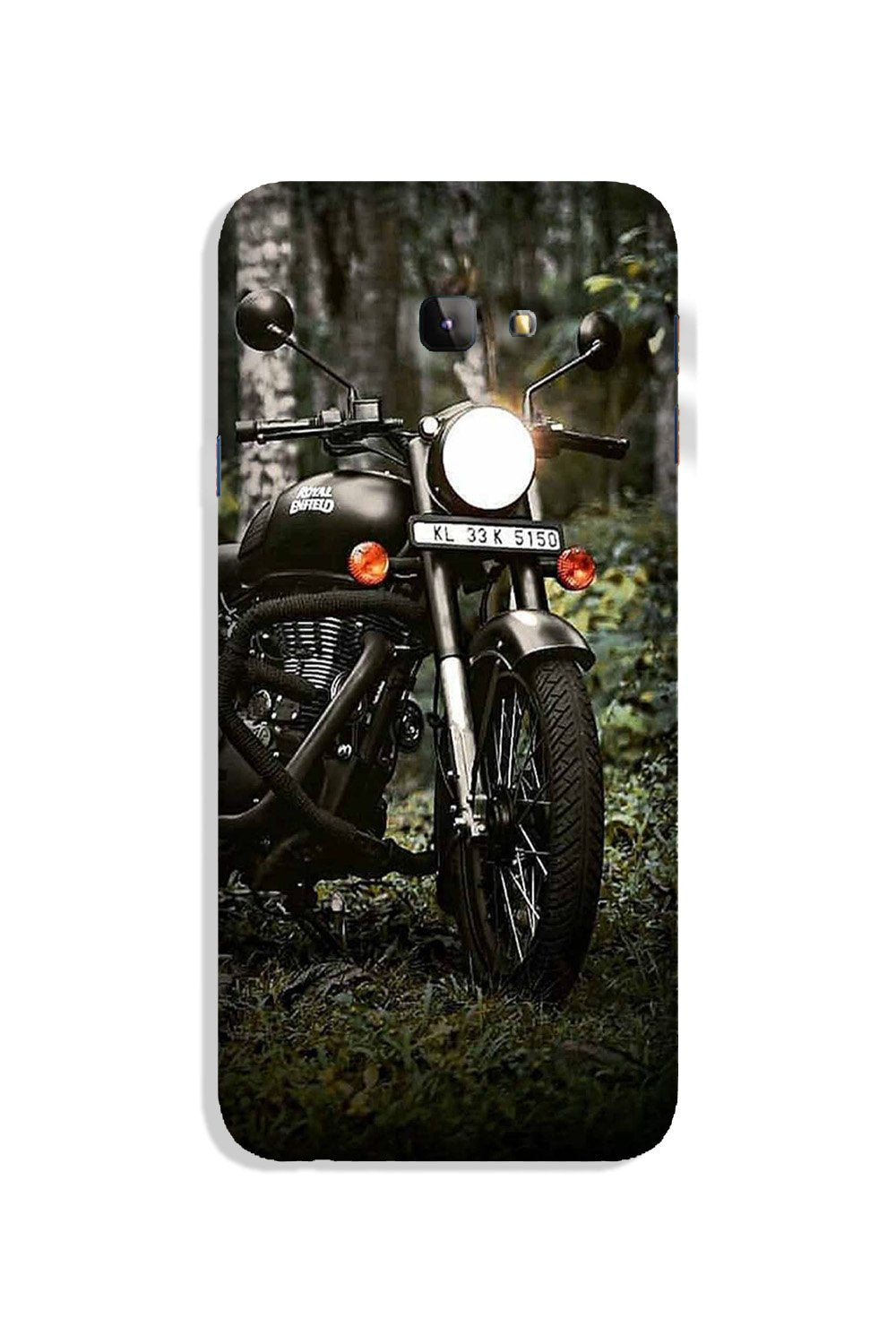 Royal Enfield Mobile Back Case for Galaxy J4 Plus (Design - 384)