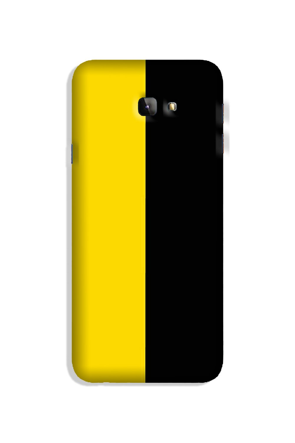 Black Yellow Pattern Mobile Back Case for Galaxy J4 Plus (Design - 397)
