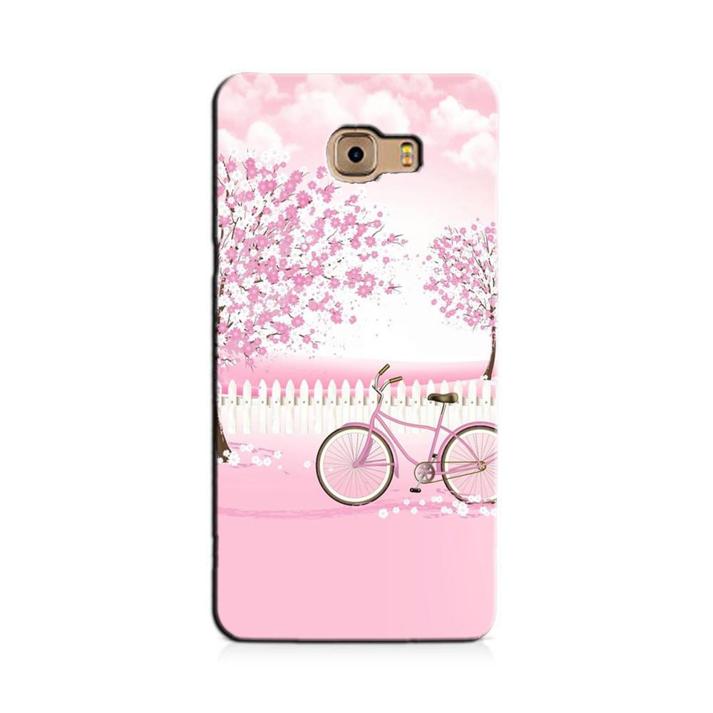 Pink Flowers Cycle Case for Galaxy J7 Prime  (Design - 102)