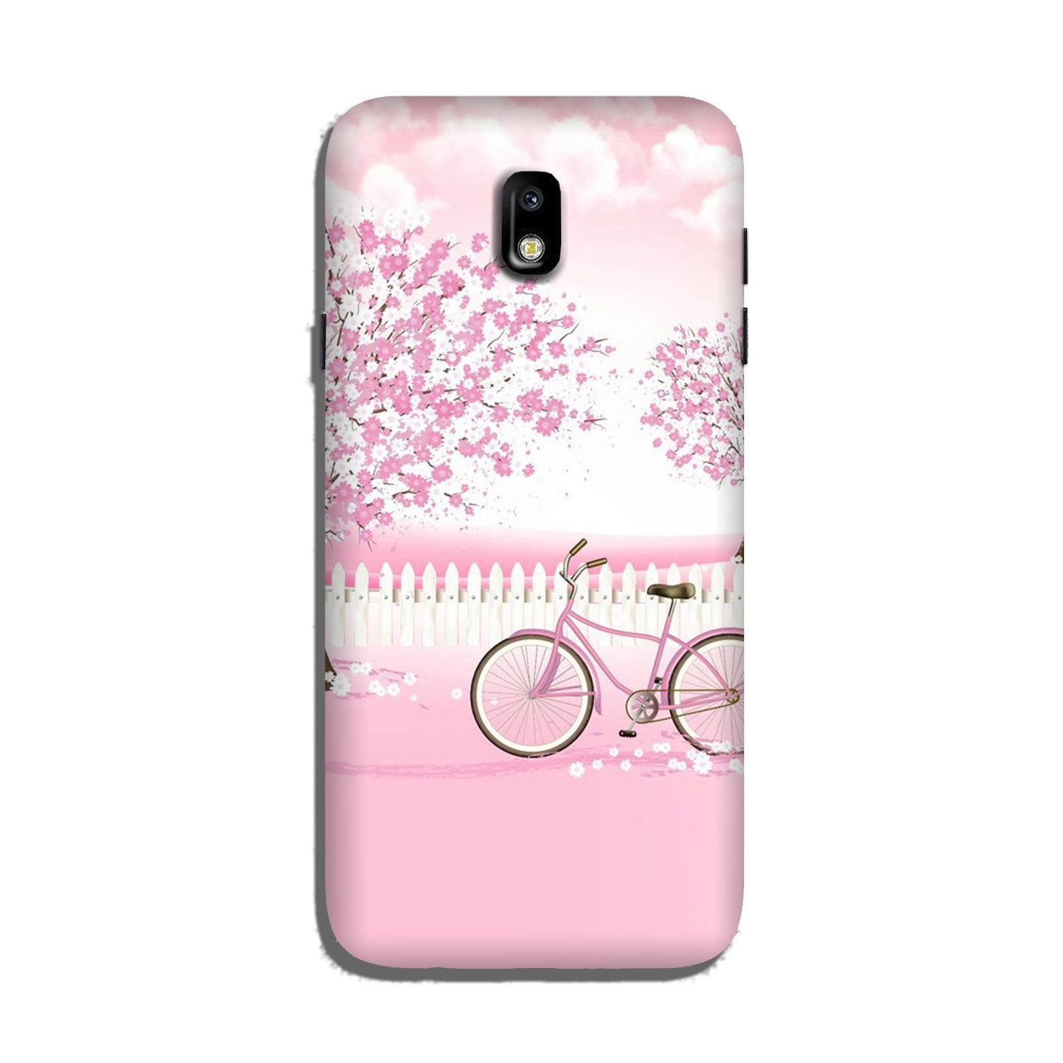 Pink Flowers Cycle Case for Galaxy J7 Pro  (Design - 102)