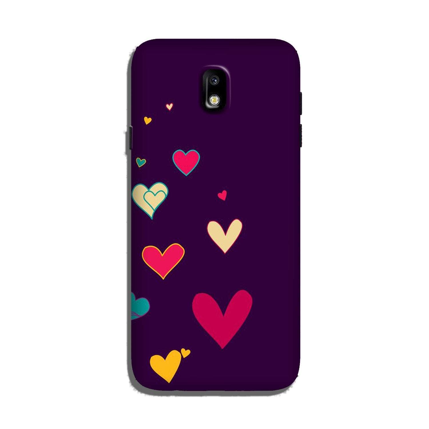 Purple Background Case for Galaxy J7 Pro  (Design - 107)