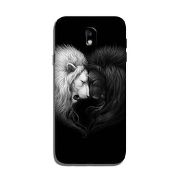 Dark White Lion Case for Galaxy J7 Pro  (Design - 140)