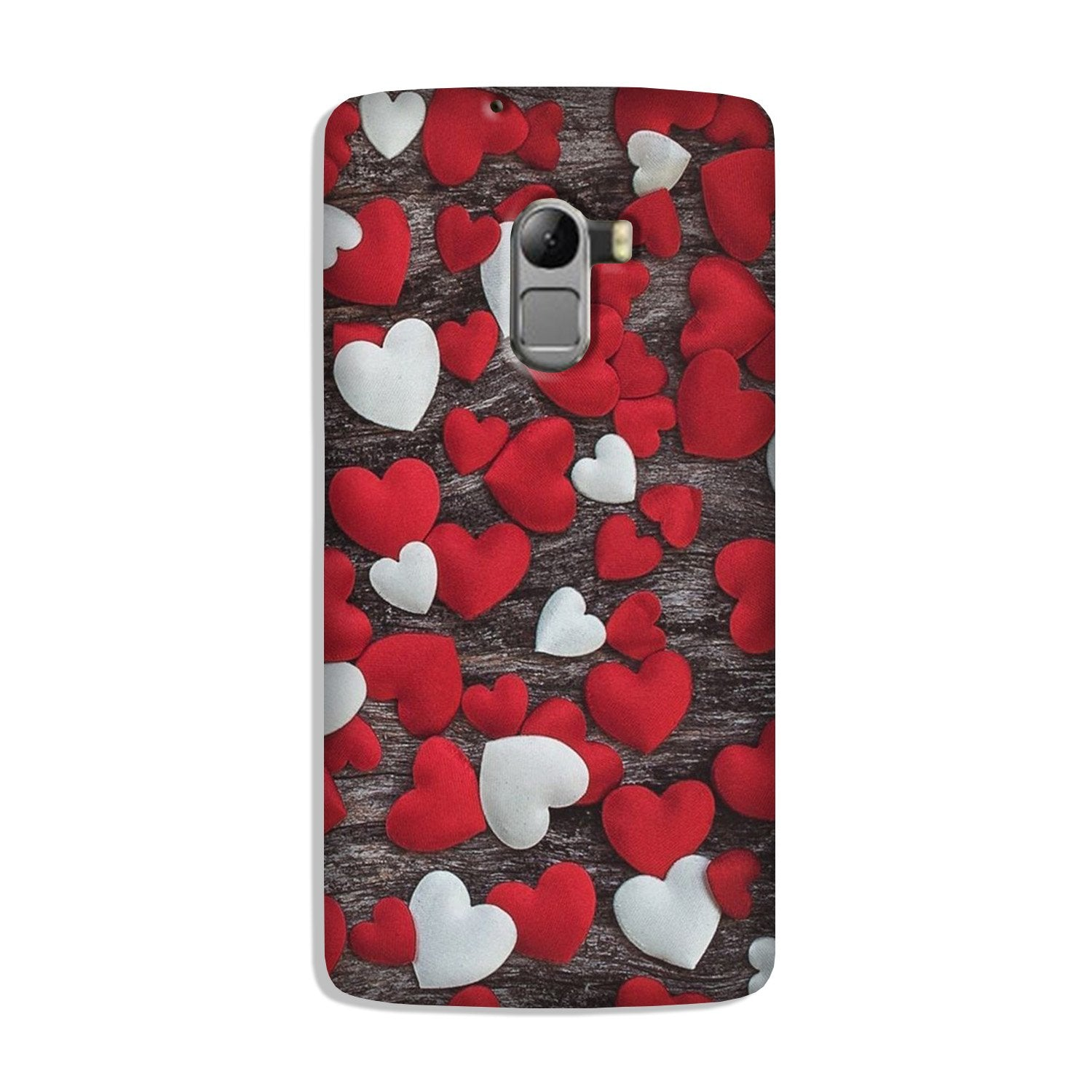 Red White Hearts Case for Lenovo K4 Note  (Design - 105)