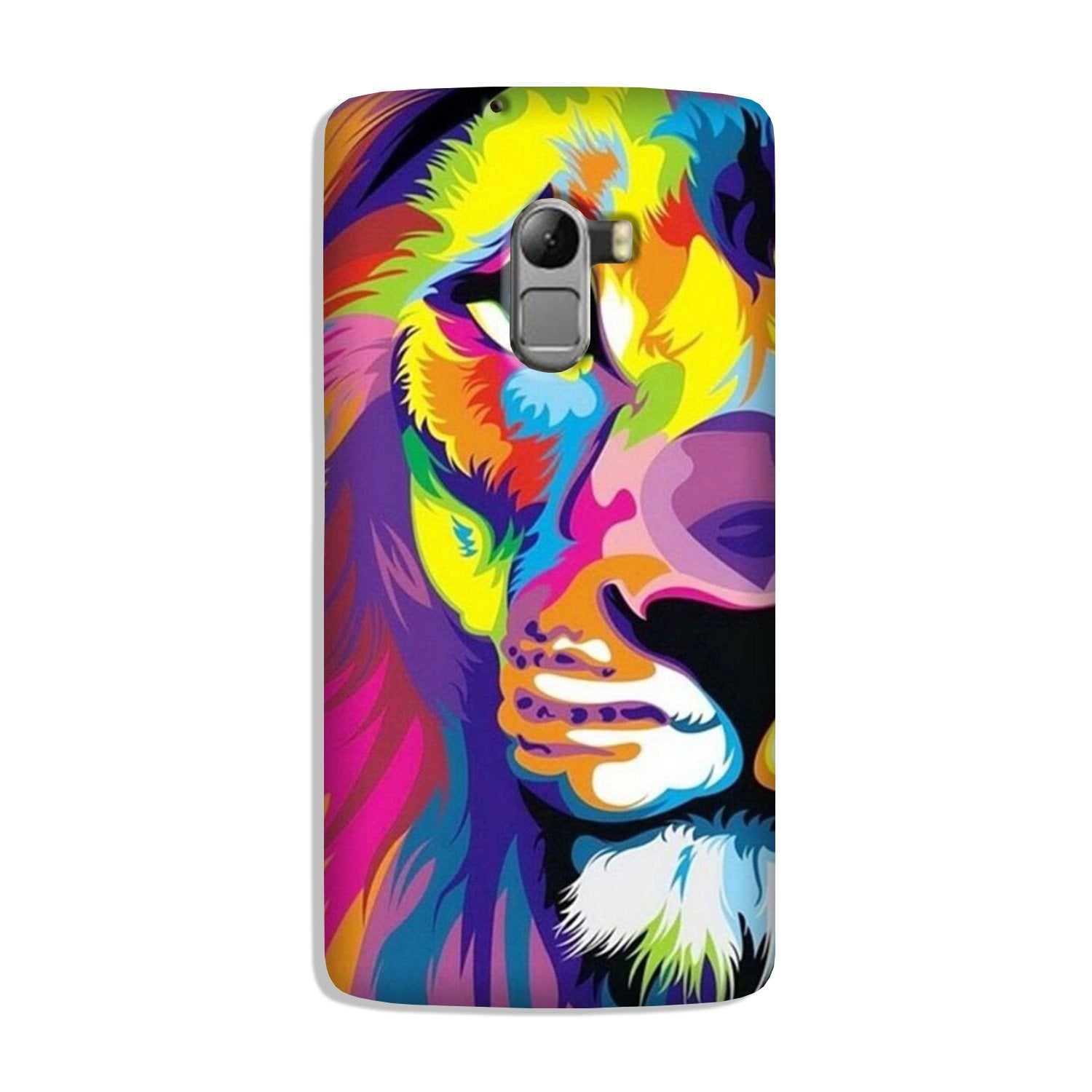 Colorful Lion Case for Lenovo K4 Note  (Design - 110)
