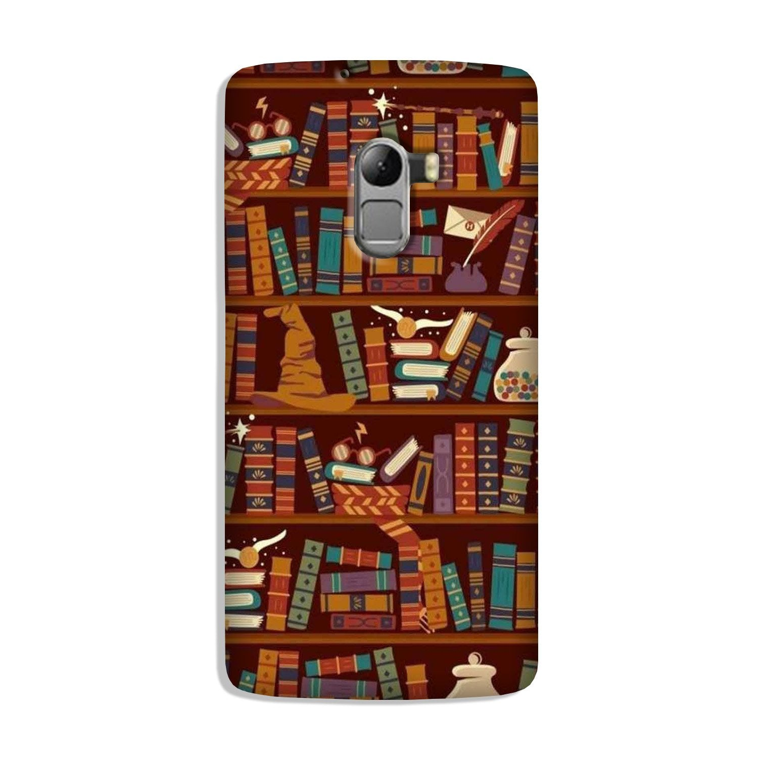 Book Shelf Mobile Back Case for Lenovo K4 Note (Design - 390)