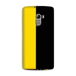 Black Yellow Pattern Mobile Back Case for Lenovo K4 Note (Design - 397)