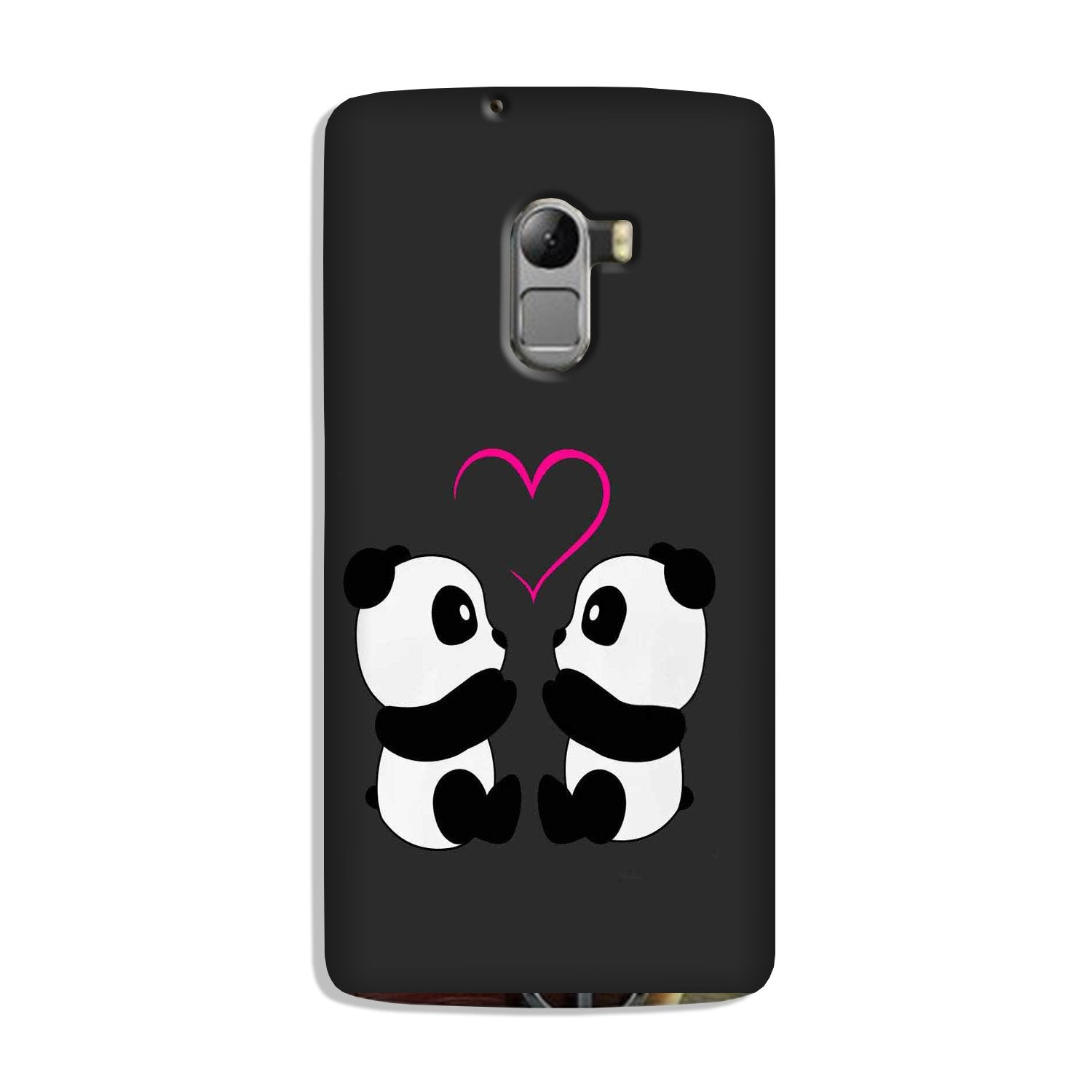Panda Love Mobile Back Case for Lenovo K4 Note (Design - 398)
