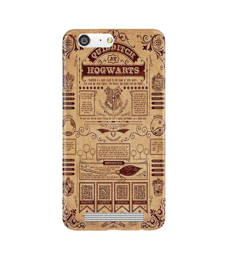 Hogwarts Mobile Back Case for Gionee M5 (Design - 304)