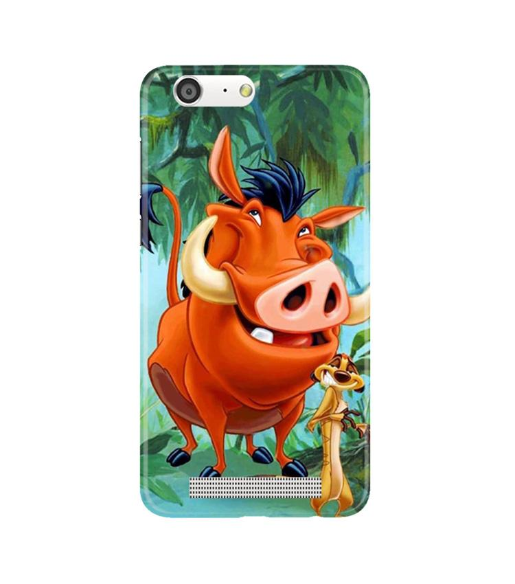 Timon and Pumbaa Mobile Back Case for Gionee M5 (Design - 305)