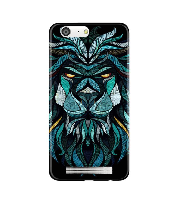 Lion Mobile Back Case for Gionee M5 (Design - 314)