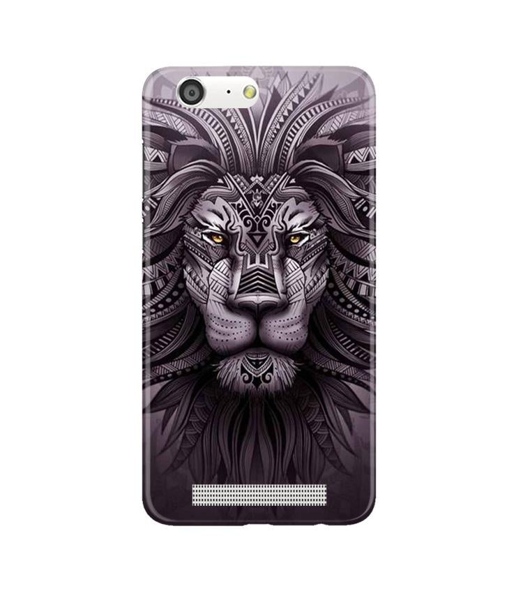Lion Mobile Back Case for Gionee M5 (Design - 315)