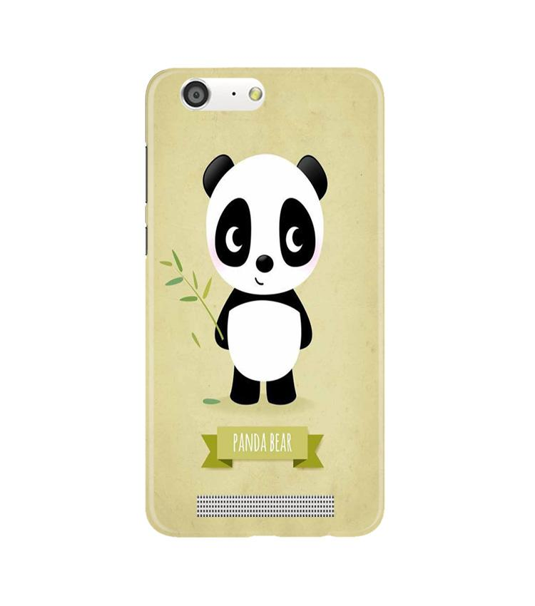 Panda Bear Mobile Back Case for Gionee M5 (Design - 317)
