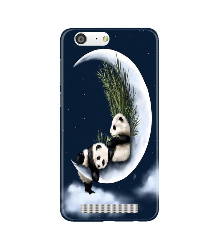 Panda Moon Mobile Back Case for Gionee M5 (Design - 318)