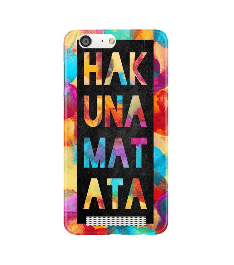 Hakuna Matata Mobile Back Case for Gionee M5 (Design - 323)