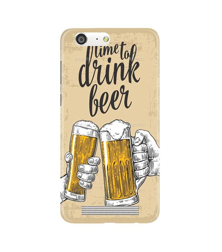 Drink Beer Mobile Back Case for Gionee M5 (Design - 328)