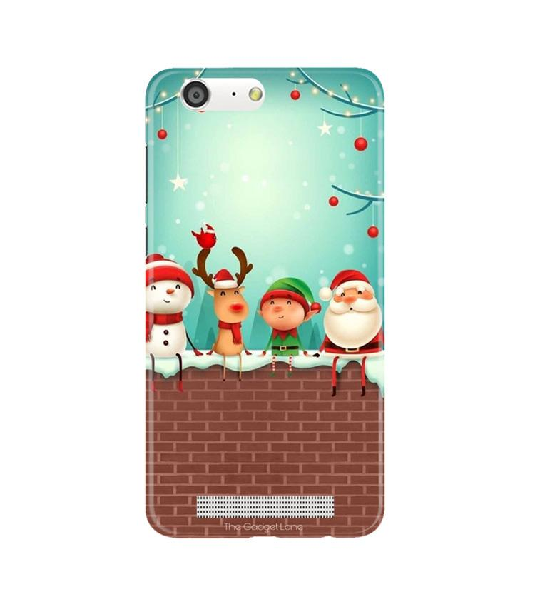 Santa Claus Mobile Back Case for Gionee M5 (Design - 334)