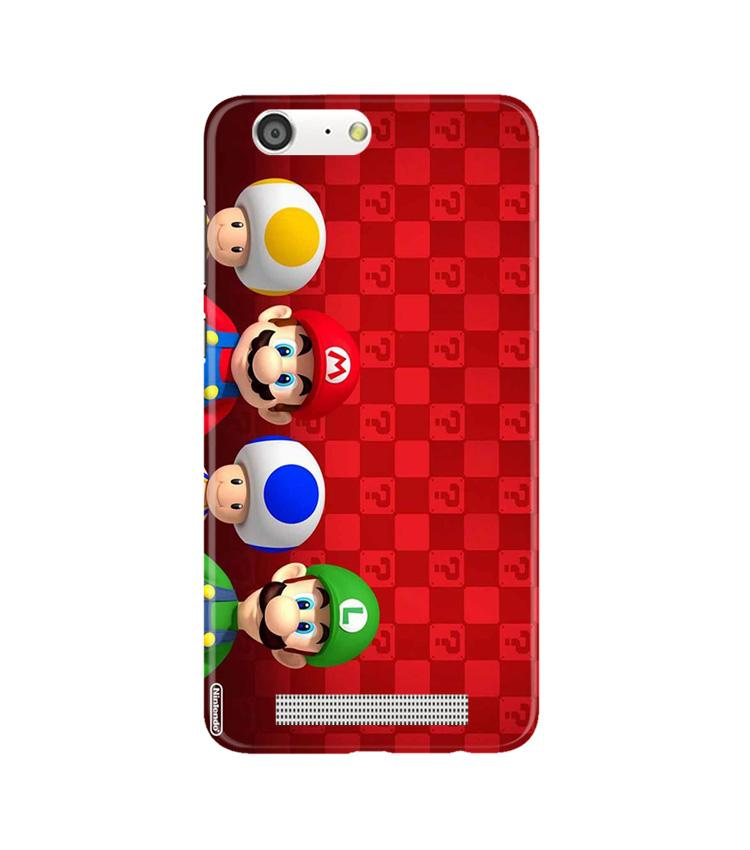 Mario Mobile Back Case for Gionee M5 (Design - 337)
