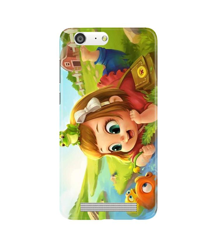 Baby Girl Mobile Back Case for Gionee M5 (Design - 339)