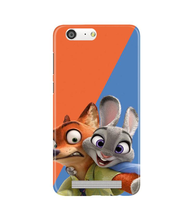 Cartoon Mobile Back Case for Gionee M5 (Design - 346)