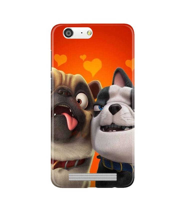 Dog Puppy Mobile Back Case for Gionee M5 (Design - 350)