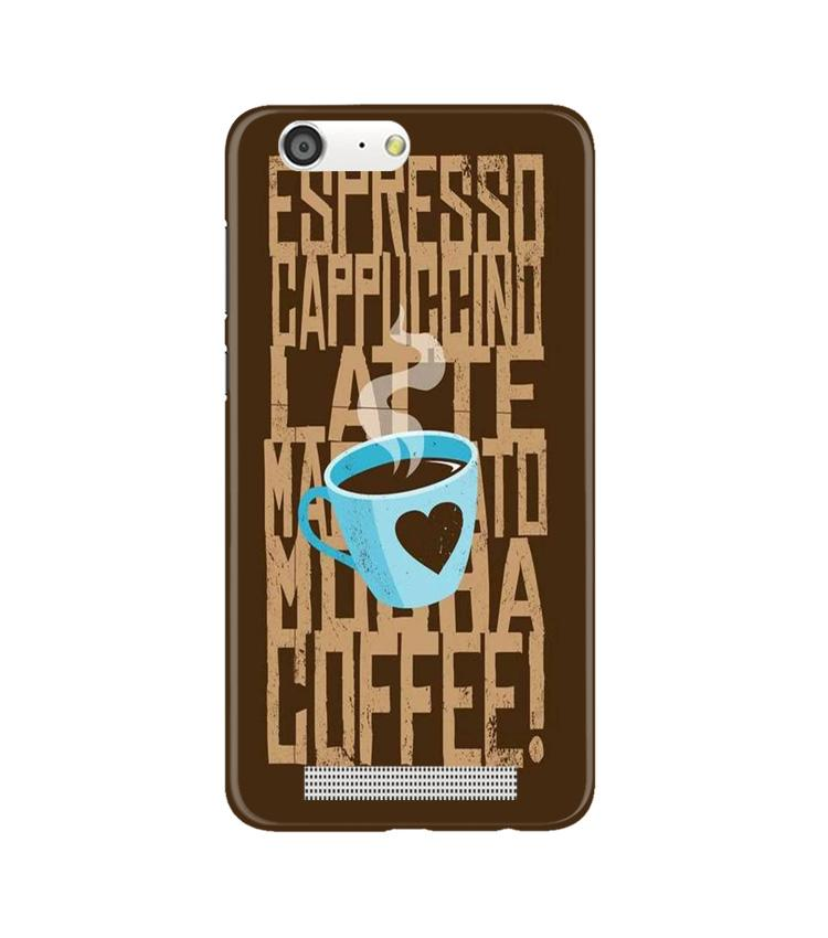 Love Coffee Mobile Back Case for Gionee M5 (Design - 351)