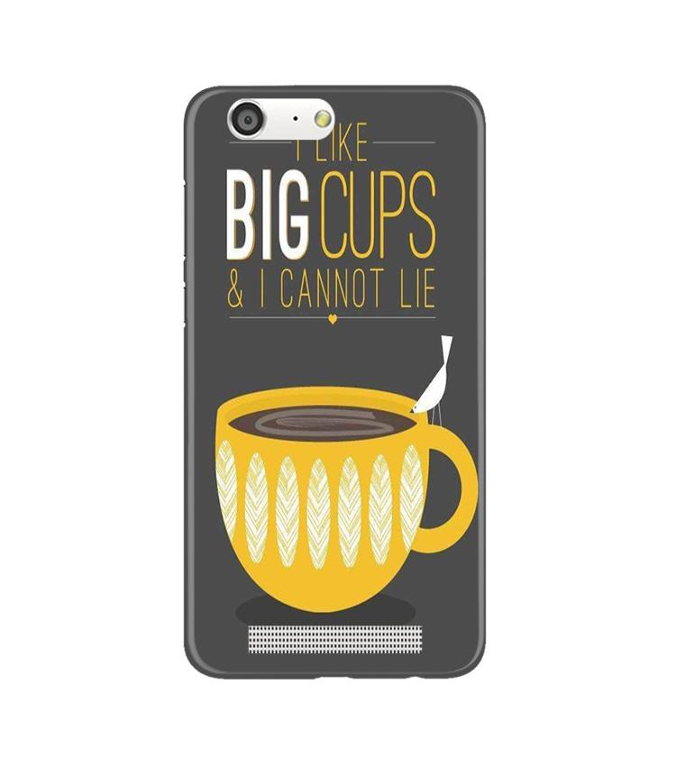 Big Cups Coffee Mobile Back Case for Gionee M5 (Design - 352)