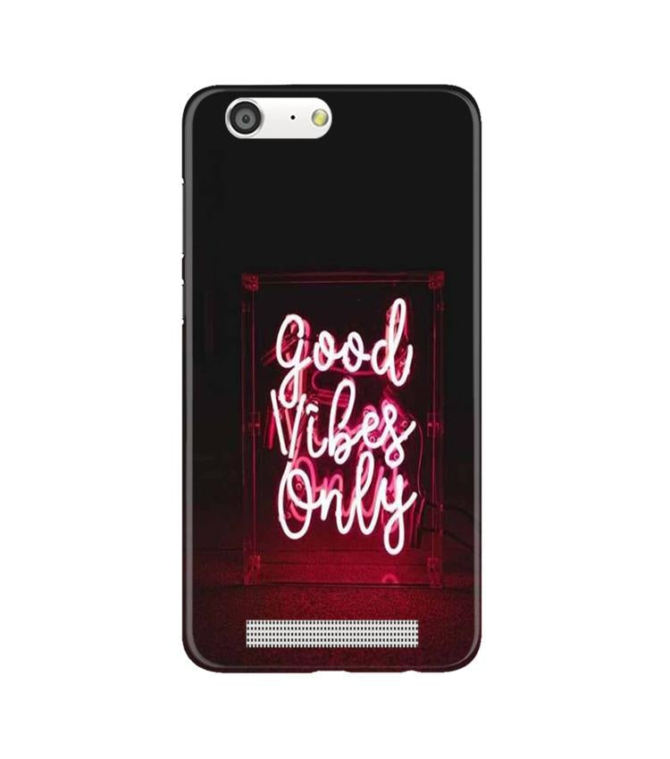 Good Vibes Only Mobile Back Case for Gionee M5 (Design - 354)