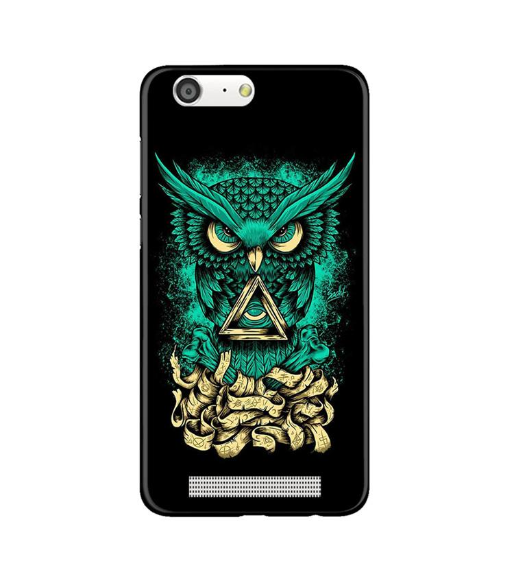 Owl Mobile Back Case for Gionee M5 (Design - 358)