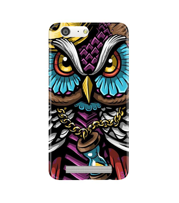 Owl Mobile Back Case for Gionee M5 (Design - 359)