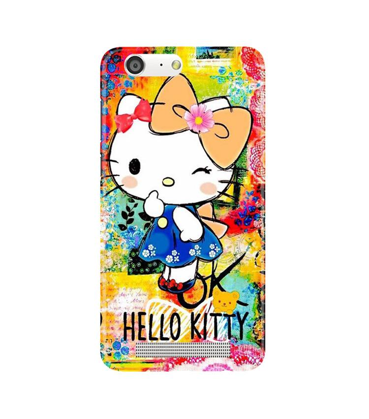 Hello Kitty Mobile Back Case for Gionee M5 (Design - 362)