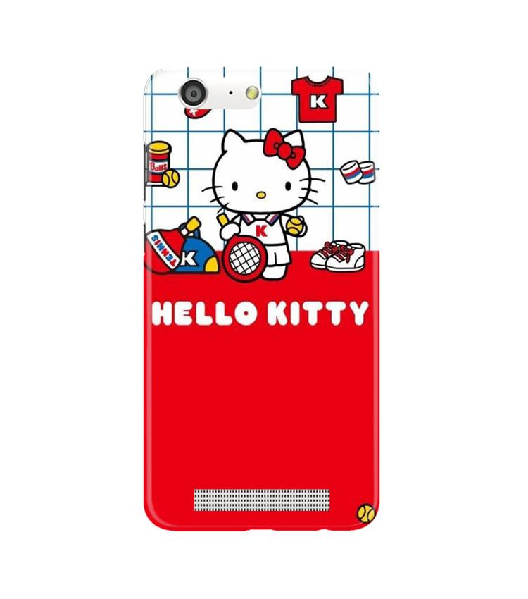 Hello Kitty Mobile Back Case for Gionee M5 (Design - 363)