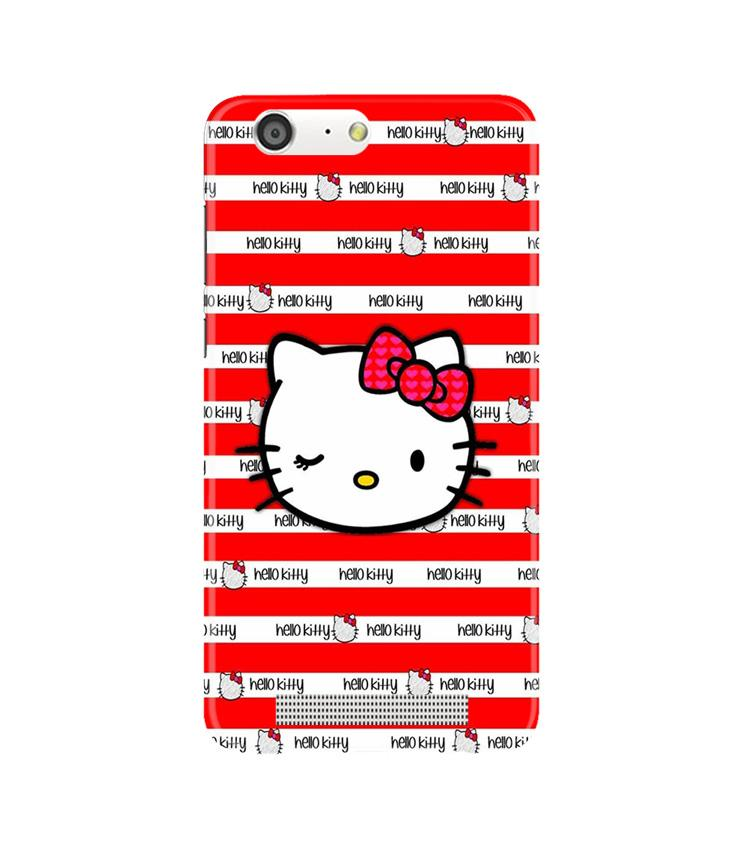 Hello Kitty Mobile Back Case for Gionee M5 (Design - 364)