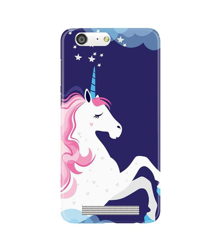 Unicorn Mobile Back Case for Gionee M5 (Design - 365)