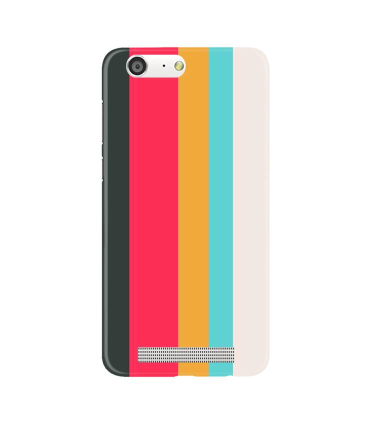Color Pattern Mobile Back Case for Gionee M5 (Design - 369)