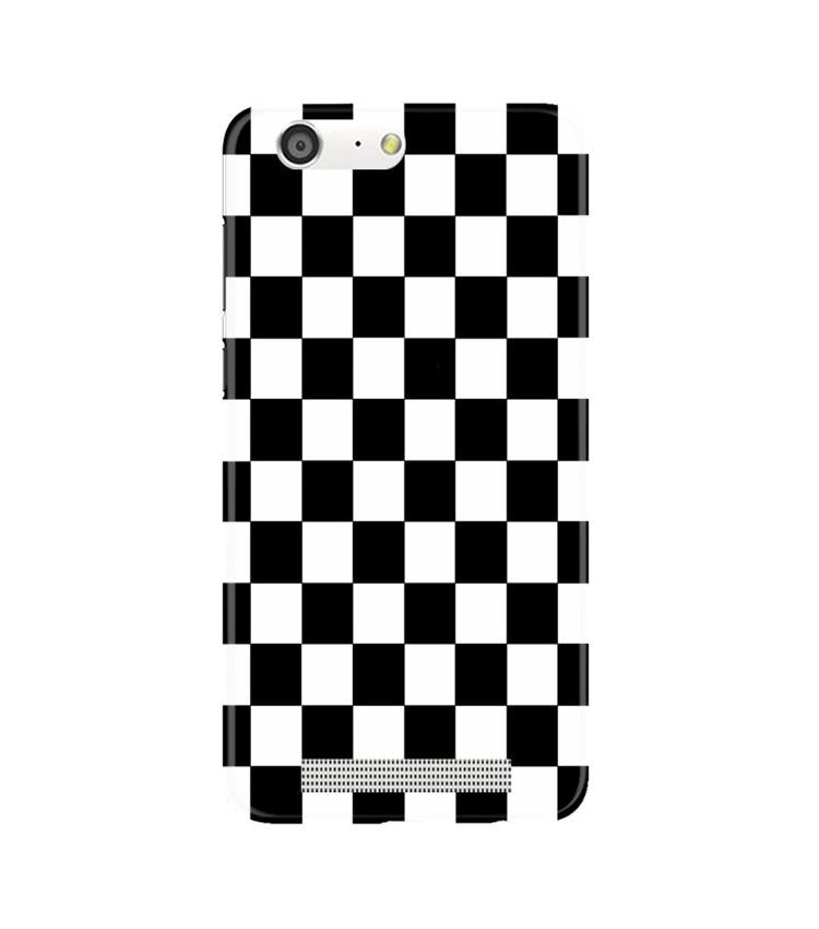 Black White Boxes Mobile Back Case for Gionee M5 (Design - 372)