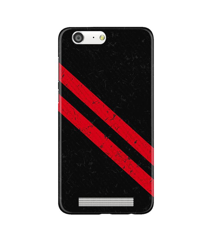 Black Red Pattern Mobile Back Case for Gionee M5 (Design - 373)