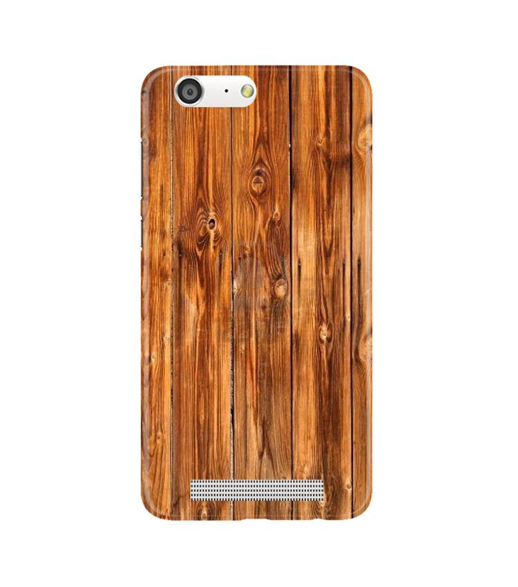 Wooden Texture Mobile Back Case for Gionee M5 (Design - 376)