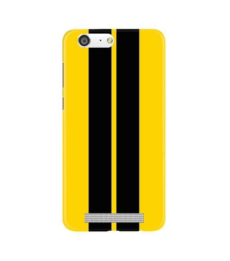 Black Yellow Pattern Mobile Back Case for Gionee M5 (Design - 377)