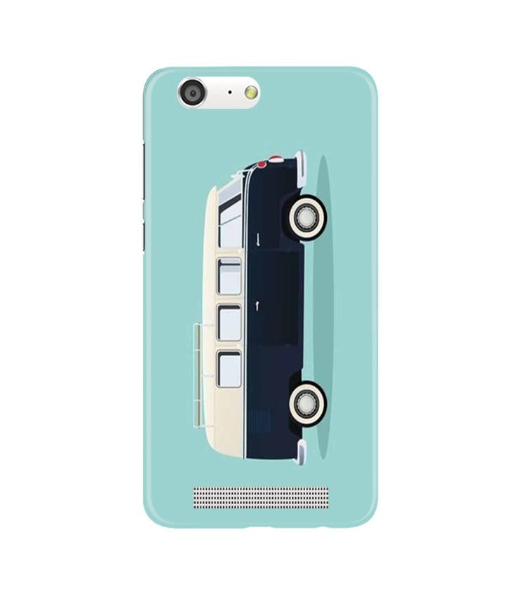 Travel Bus Mobile Back Case for Gionee M5 (Design - 379)