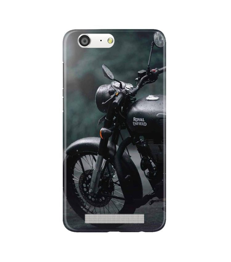 Royal Enfield Mobile Back Case for Gionee M5 (Design - 380)