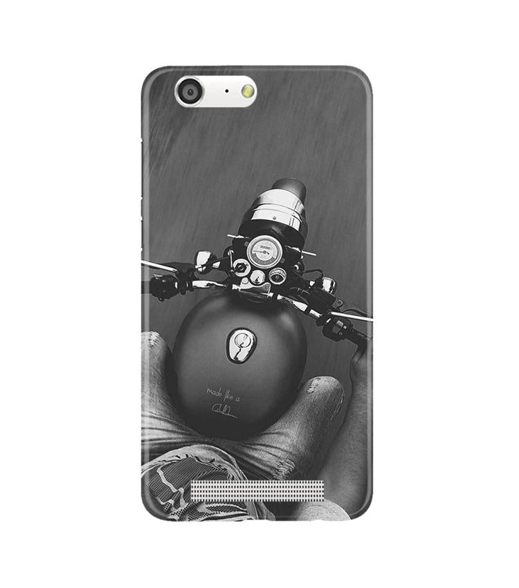 Royal Enfield Mobile Back Case for Gionee M5 (Design - 382)
