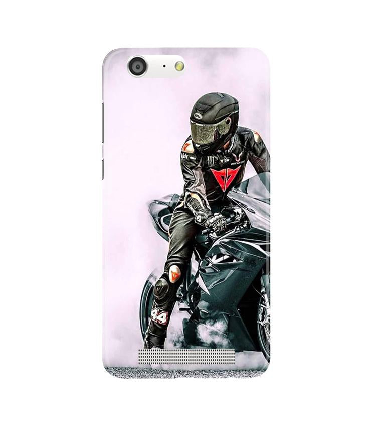 Biker Mobile Back Case for Gionee M5 (Design - 383)