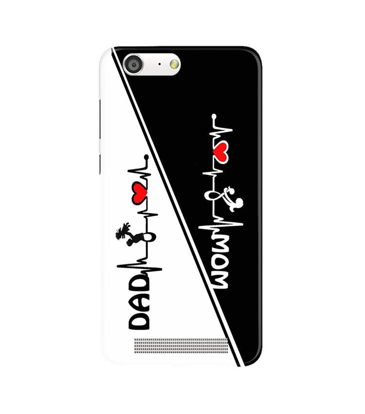 Love Mom Dad Mobile Back Case for Gionee M5 (Design - 385)